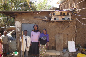 Mr dawit and wife's house before repairs