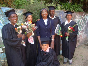 Srcelestina and five sewing graduates