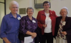 Sr Terry, with Sr. Benrie, Sr. helena and Sr. Teresita,   MMM  co-founder