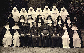 First ten Professed Missionary Sisters of the Holy Rosary, Novices and Postulants with Bishop Shanahan, February, 1927
